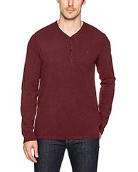 Calvin Klein - Jeans Long Sleeve Waffle Layer Y-neck Henley - Lyst
