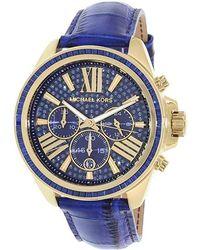 1f6ca5f4256d Lyst - Michael Kors Wren Pavé Gold-tone Watch in Metallic