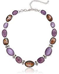 Napier - Purple-tone Multi Collar Necklace - Lyst