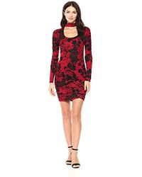 Guess - Long Sleeve Evan Ruched Dress - Lyst
