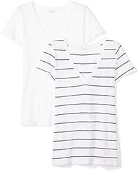 Daily Ritual - Featherweight Cotton Short-sleeve V-neck T-shirt - Lyst