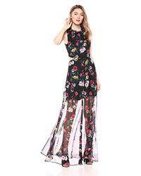 c5a855bc7609 TOPSHOP Floral Mix Midi Dress - Lyst