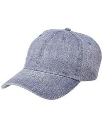 2fbec48d5f387 Michael Stars - Joey Washed Baseball Cap (indigo) Baseball Caps - Lyst