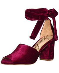 d66ee67df78c Lyst - Kate Spade Odele Suede Ruffle City Sandal in Black