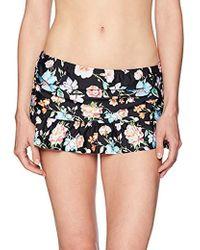 a99511fd2cfea Kenneth Cole Reaction - Skirted Swimsuit Bikini Bottom - Lyst