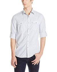 Kenneth Cole - Double Pocket Mini Check Shirt - Lyst