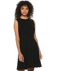 Theory - Sleeveless Dart Mini Dress - Lyst