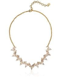 Nicole Miller - Nmny Cosmic Statement Collar Gold/clear Necklace - Lyst