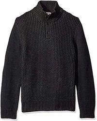 Calvin Klein - Jeans Racked Quarter Button Sweater - Lyst