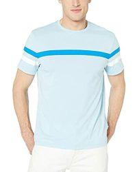 41429f29b7a8 Calvin Klein Athleisure Logo Crewneck T-shirt in Blue for Men - Lyst