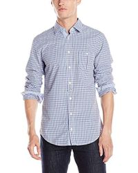874fb397 BOSS By Hugo Boss Epop Slim Fit Garment Washed Check Shirt In ...