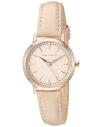 Vince Camuto - Vc/5352rgbh Rose Gold-tone And Light Pink Leather Strap Watch - Lyst