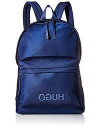 BOSS - Record Hugo Logo Nylon Backpack - Lyst
