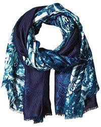 Calvin Klein - Ombre Border Floral Printed Pashmina Scarf, Cypress, One Size - Lyst