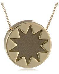 "House of Harlow 1960 - Khaki Mini Sunburst Pendant Necklace, 18"" - Lyst"
