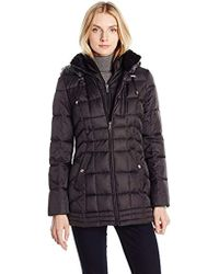 Nautica - Puffer With Vestie And Faux Fur Trim - Lyst