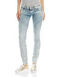 G-Star RAW - 3301 Low Rise Skinny Fit Jean In Tobin Superstretch Light Aged - Lyst