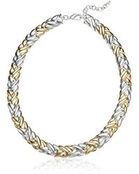 Napier - Large Collar Necklace, Two Tone - Lyst