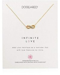 """Dogeared - Infinite Love, Infinity Swarovski Crystal Necklace, 16"""" + 2"""" Extension, 14k Gold Dipped 0.925 Sterling Silver - Lyst"""