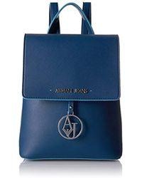 Armani Jeans - Saffiano Color Trim Backpack - Lyst
