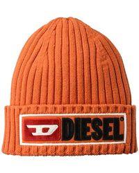 afa2212828f DIESEL - Logo Wool   Cotton Knit Beanie Hat - Lyst