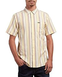 Volcom - Multi Toner Woven Button Up Vintage Inspired Shirt - Lyst