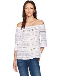 07901afadd955 Lilly Pulitzer. Sain Off-the-shoulder Top (beckon Blue Jungle Utopia)  Women s Clothing.  108. Zappos · Michael Stars - Daisy Print Double Gauze  Off The ...