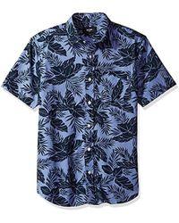 Jack Spade - Clift Short Sleeve Tropics Point Collar Shirt - Lyst