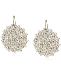 """Kenneth Cole - """"woven Item"""" Topaz Woven Faceted Bead Drop Earrings - Lyst"""