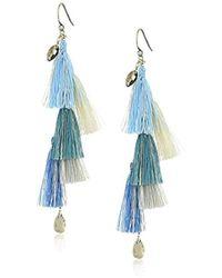 Chan Luu - Blue Fringe Drop Earrings - Lyst
