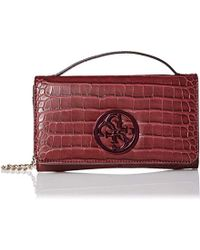 803d99c8f207a Lyst - Guess Kaia Mini Wallet On A String in Red