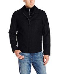 Dockers - Melton Wool-blend Jacket With Bib - Lyst