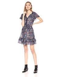 955fca8c5438 Rebecca Taylor Silk Leopard-Print Cutout-Back Dress in Natural - Lyst