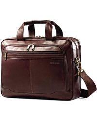 Samsonite - Leather Laptop Brief, Toploader Business Case - Lyst