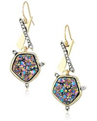 Alexis Bittar - Druzy Wire Earrings, 10k Gold With Antique Rhodium Accents, One Size - Lyst