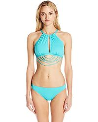 Kensie - Solid Strappy Monokini One-piece Swimsuit - Lyst