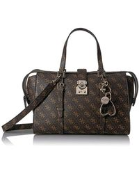 2635c0eaa0 The Little Green Bag · Guess - Joslyn Satchel - Lyst