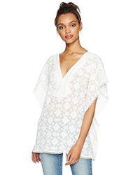 Ella Moon - Rainey Oversized Lace Trim Kimono Top - Lyst