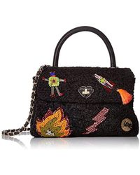 cbd8151f5b Lyst - Stella McCartney Mini 3chain Falabella Faux Curly Fur Bag in Pink