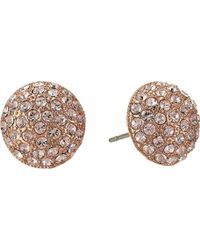 Nina - S Small Paved Button Earrings - Lyst