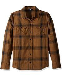 PAIGE - Everett Brushed Cotton Button Down Shirt - Lyst