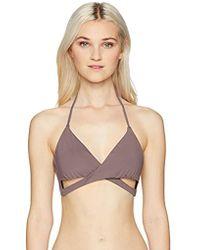 O'neill Sportswear - Salt Water Solids Wrap Top Swimwear - Lyst