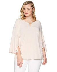 Calvin Klein - Plus Size Flare Sleeve With Pearl Hardware - Lyst