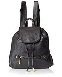 Halston - Solid Back Pack, Black - Lyst