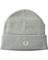 59c10917880 Lyst - Fred Perry Two Tone Cotton Beanie Hat In Black in Black for Men