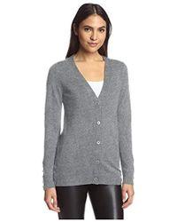 SOCIETY NEW YORK - Button Hem Cardigan Sweater - Lyst