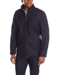 Perry Ellis - 28-inch Wool-blend Zip-front Open-bottom Jacket - Lyst