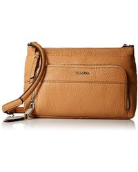 b93a807a28f Calvin Klein Quilted Pebble Crossbody in Natural - Lyst
