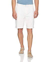 Nautica - Cotton Twill Flat Front Chino Short - Lyst