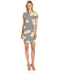 6f82f7d58f1 ASOS Asos Design Maternity Sunflower Print V Neck Swing Dress - Lyst